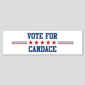 Vote for CANDACE Bumper Sticker