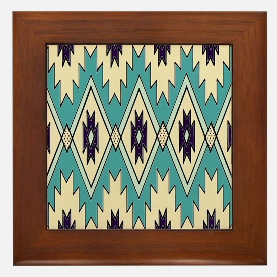 Native Chieftain Pattern Framed Tile