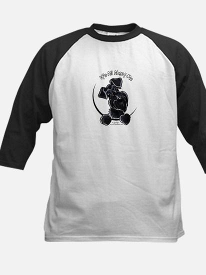 Black Schnauzer IAAM Logo Kids Baseball Jersey
