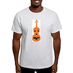 Violin Jack o'Lantern Ash Grey T-Shirt