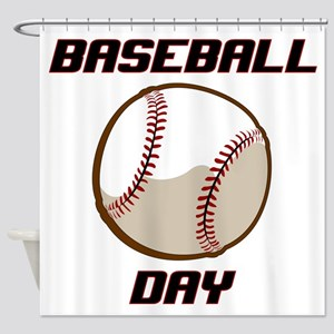 BASEBALL DAY Shower Curtain