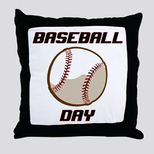 BASEBALL DAY Throw Pillow