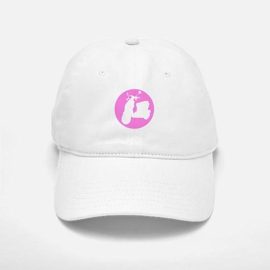 Pink Genuine Buddy Dot Baseball Baseball Cap