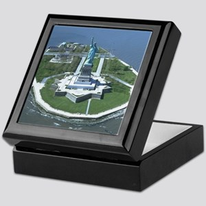 Statue of Liberty Aerial Photograph Keepsake Box