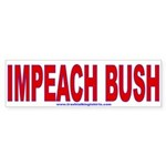 Impeach Bush Bumper Sticker