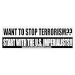 Stop Terrorism Bumper Sticker
