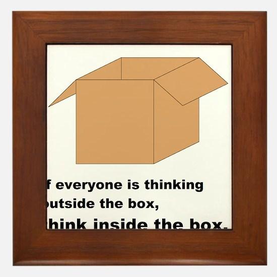Think Inside the Box Framed Tile