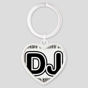 Last Night A DJ Saved My Life Heart Keychain
