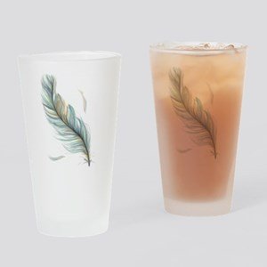 Feather Drinking Glass
