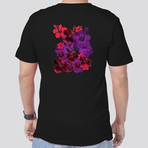 Hibiscus Men's Fitted T-Shirt (dark)