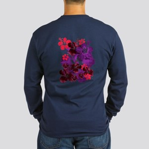 Hibiscus Long Sleeve Dark T-Shirt
