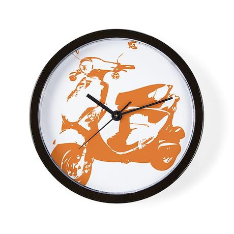 Orange Rough Buddy Wall Clock