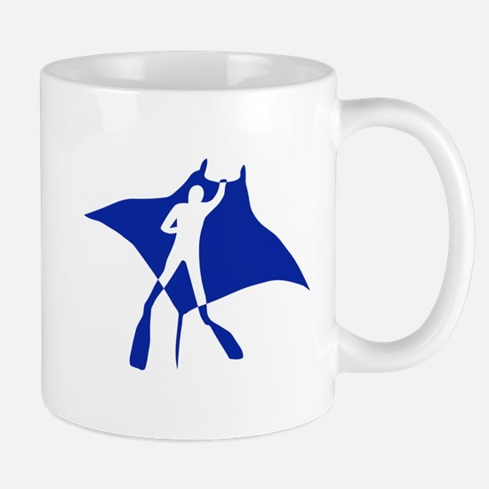 manta ray rochen scuba diving fish tauchen Mug