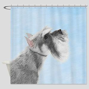 Schnauzer 3 Shower Curtain