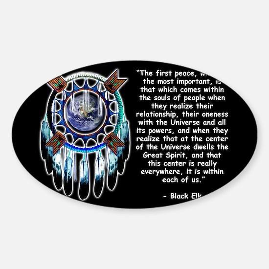 Black Elk Quote Rectangle Decal