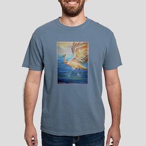 Crane, wildlife, bird art! Mens Comfort Colors Shi