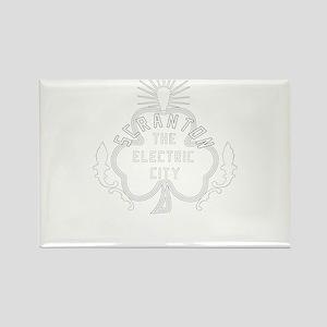 Scranton Electric City Shamrock Rectangle Magnet