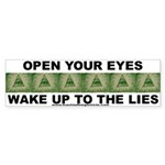 Open Your Eyes Bumper Sticker