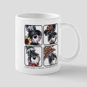 Four Schnauzers Mug