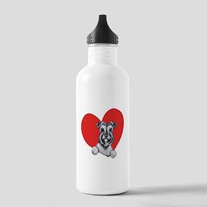 Schnauzer in Heart Stainless Water Bottle 1.0L