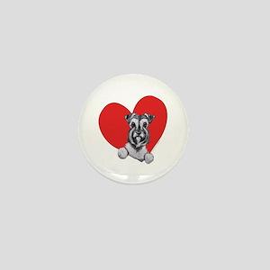 Schnauzer in Heart Mini Button