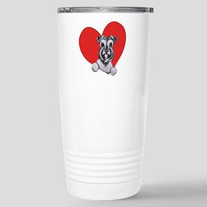Schnauzer in Heart Stainless Steel Travel Mug