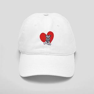 Schnauzer in Heart Cap