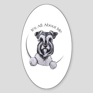 Classic Schnauzer IAAM Sticker (Oval)