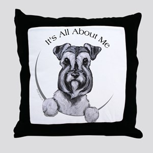 Classic Schnauzer IAAM Throw Pillow