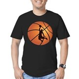 Basketball Fitted Dark T-Shirts