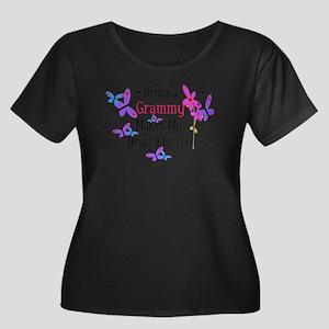 Grammy Heart Flutter Plus Size T-Shirt