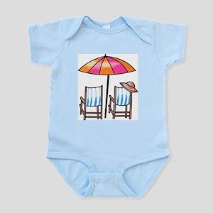 Umbrella and Chairs Infant Bodysuit