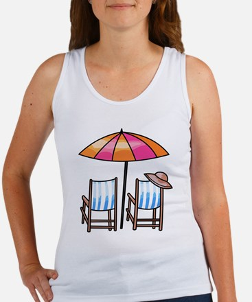 Umbrella and Chairs Women's Tank Top