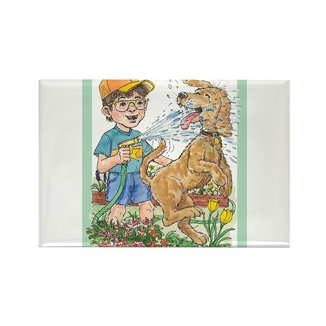 Summer fun! Water the garden and the dog! Rectangl