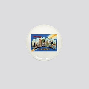 Chicago Illinois Greetings Mini Button