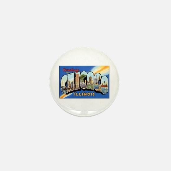 Chicago Illinois Greetings Mini Button