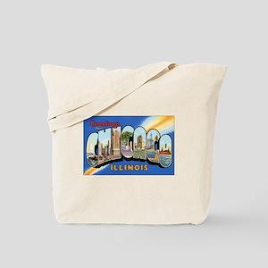 Chicago Illinois Greetings Tote Bag