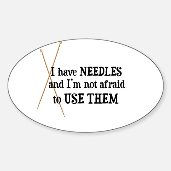 Knitting - I Have Needles Rectangle Decal