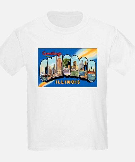 Chicago Illinois Greetings (Front) Kids T-Shirt