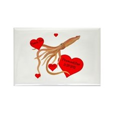 Personalized Squid Rectangle Magnet (10 pack)