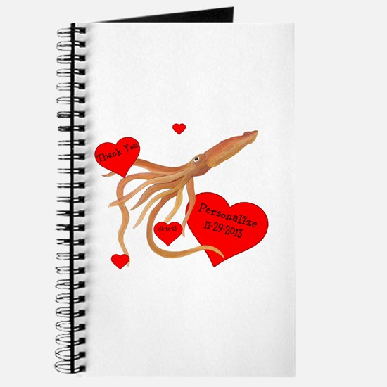 Personalized Squid Journal