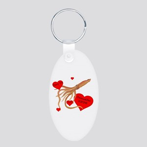 Personalized Squid Aluminum Oval Keychain