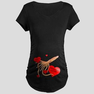 Personalized Squid Maternity Dark T-Shirt