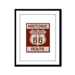 Ludlow Route 66 Framed Panel Print