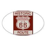 Ludlow Route 66 Sticker (Oval 50 pk)