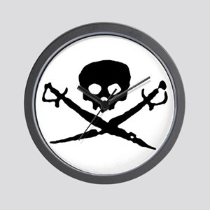 Jolly Roger Pirate Wall Clock