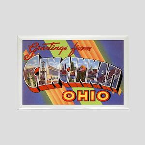 Cincinnati Ohio Greetings Rectangle Magnet