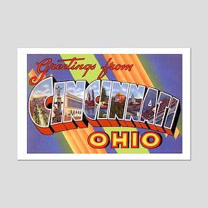 Cincinnati Ohio Greetings Mini Poster Print