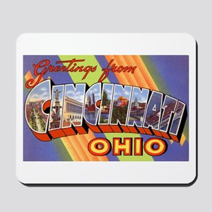 Cincinnati Ohio Greetings Mousepad