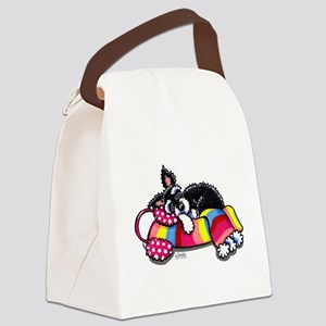 Warm Schnauzer Canvas Lunch Bag